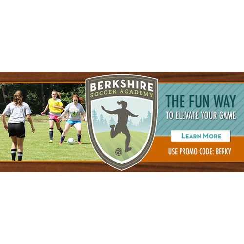 Website Banner for Soccer Academy