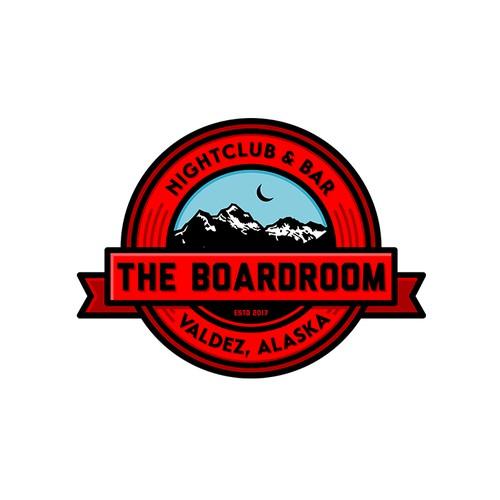 bold vintage badge logo concept for bar