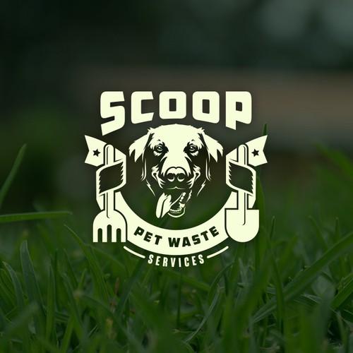 Logo & Website for Scoop Pet Waste Services
