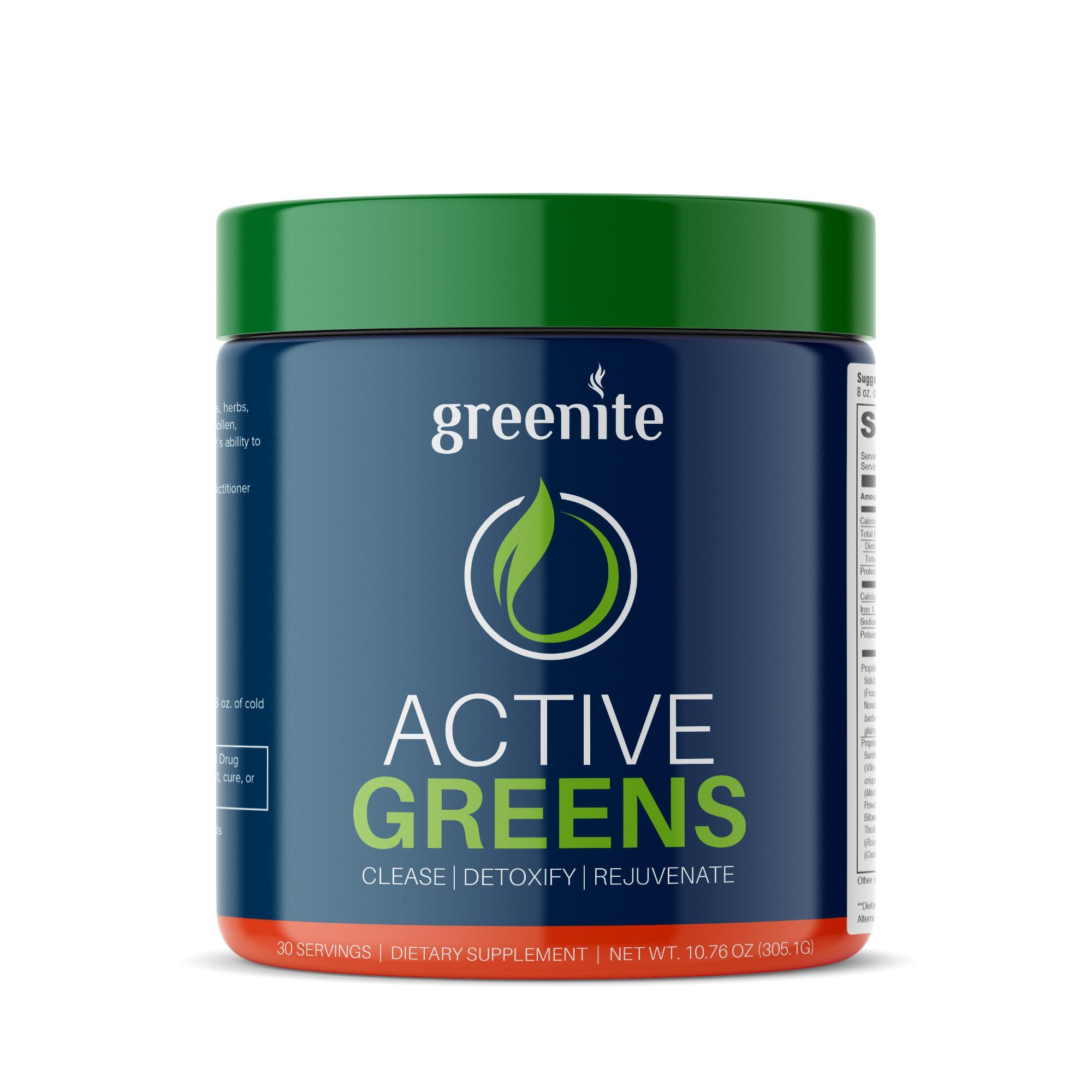 Change the center of the label Greenite.