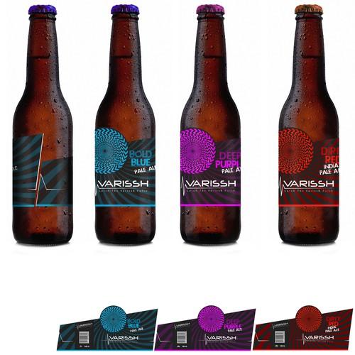 Bottle beer labels design