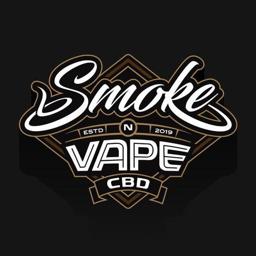 Logo design for smoke and vape store