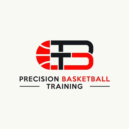 Bold sporty logo for Precision Basketball Training