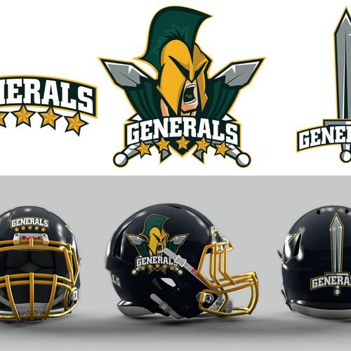 Football Helmet Logo for Oyster Bay Bayville Generals