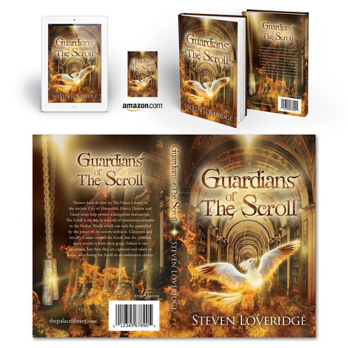"Book cover for ""Guardians of The Scroll"" by Steven Loveridge"