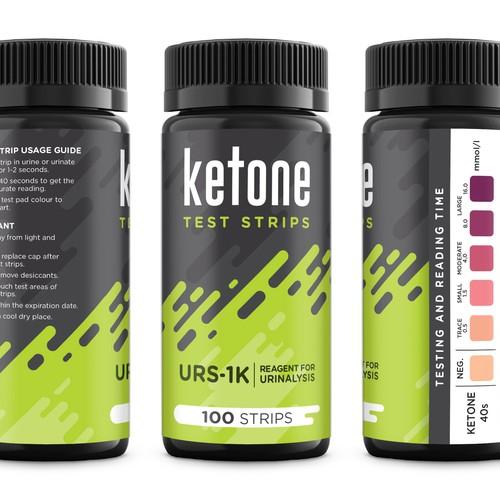 Ketone Test Strips - Label Design