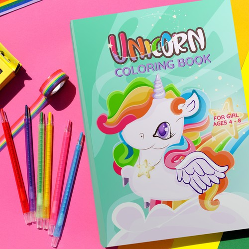 Unicorn - Coloring Book