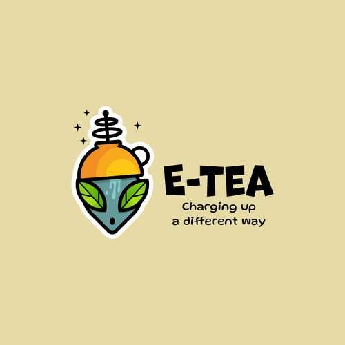 Funny logo with an alien inspired from E.T.