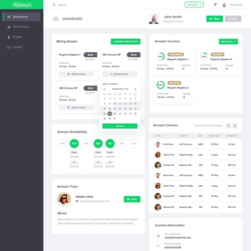 Education Dashboard UI
