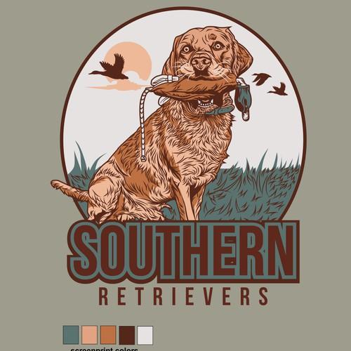 Vector Illustration tshirt design for SOUTHERN RETRIEVERS
