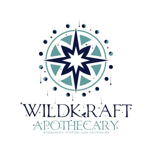 magical logo concept for WildKraft Apothecary