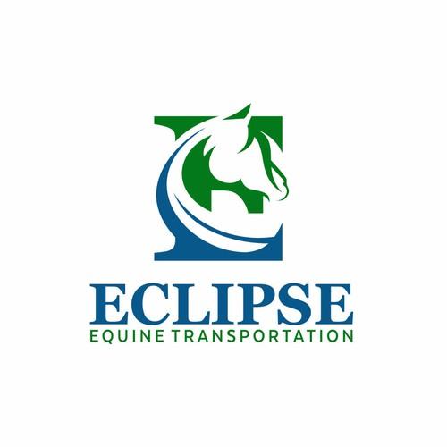 Negative logo Eclipse Equine