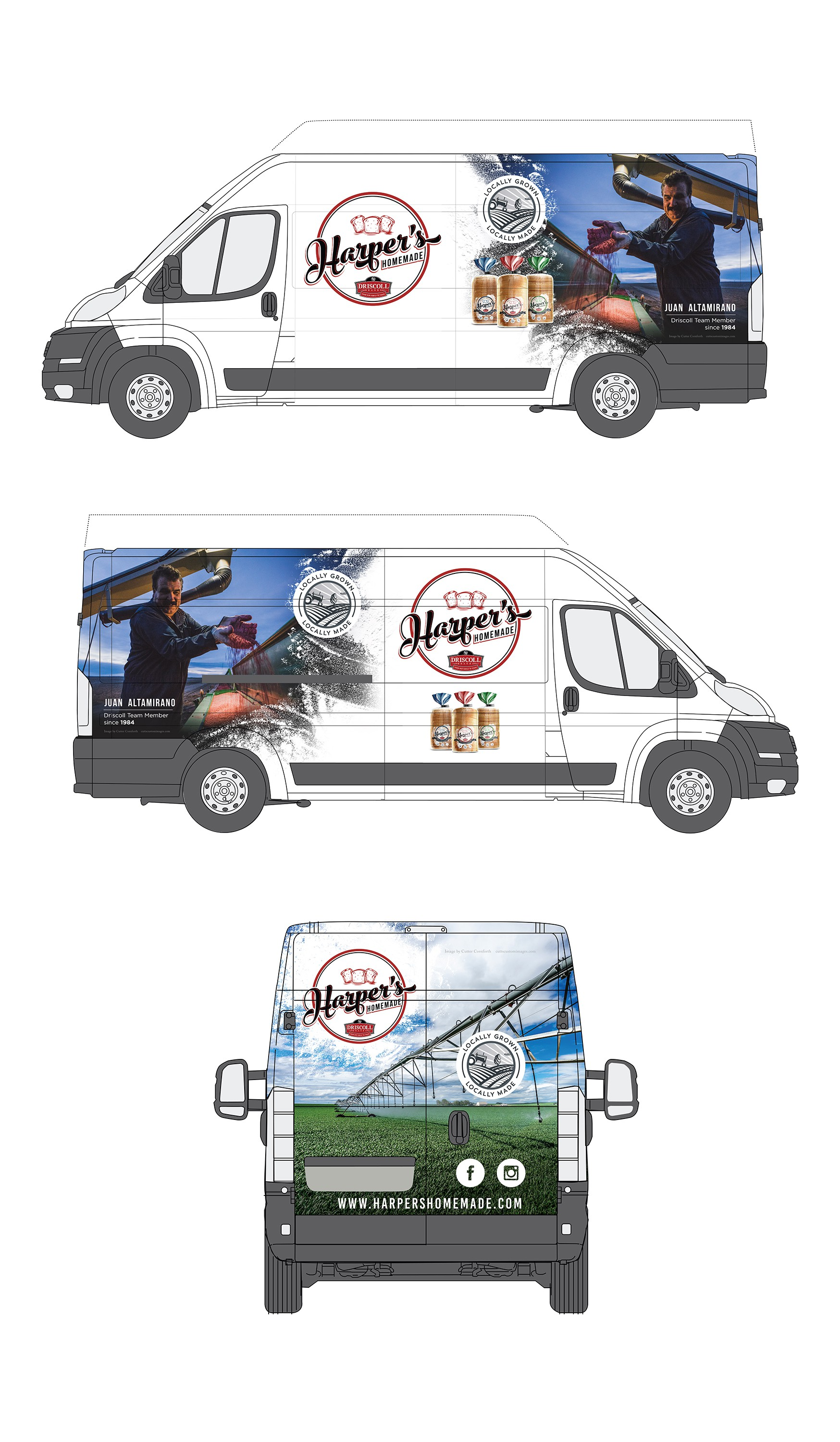 Magazine ad / In store signage/ Van Wrap - Locally Grown