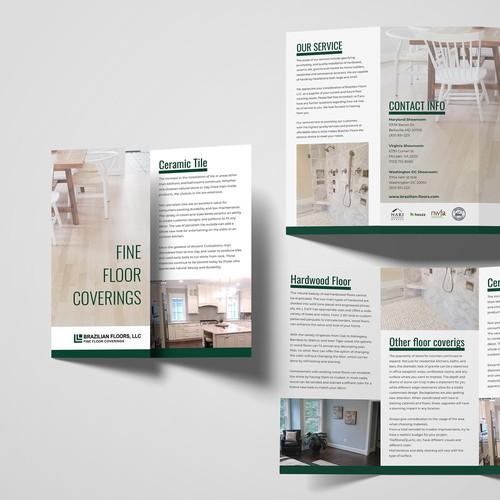 Modern Marketing Brochure for flooring company