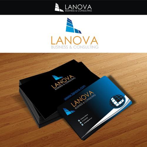 Business Management Company Logo+Cards