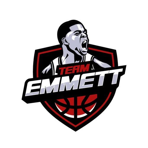 Basketball Team Logo for the Late Andre Emmet