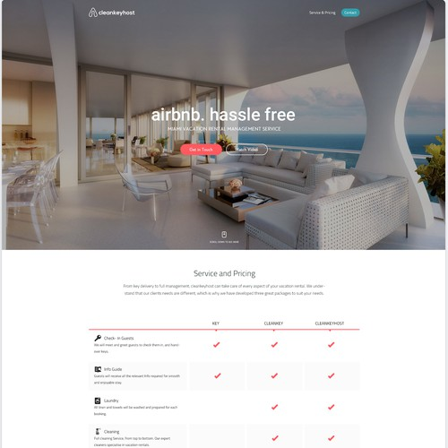 Landing Page for cleankeyhost.com