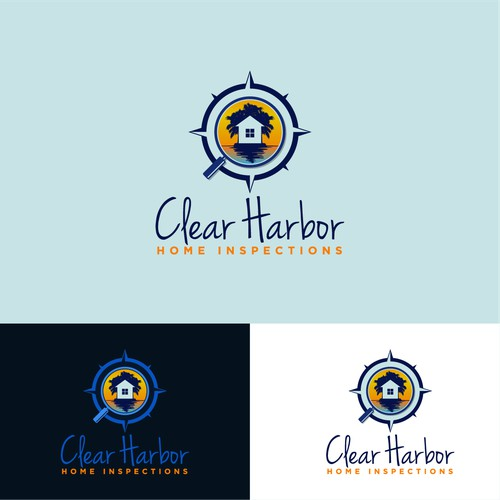 Logo with nautical touch for Clear Harbor Home Inspections