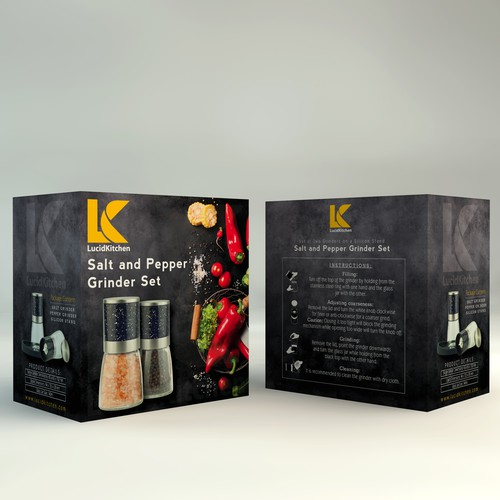 Minimalistic Product Package For Salt and Pepper.