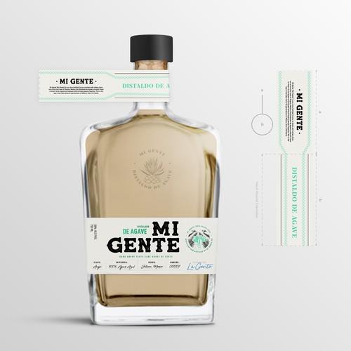 Mi Gente Tequila label Design