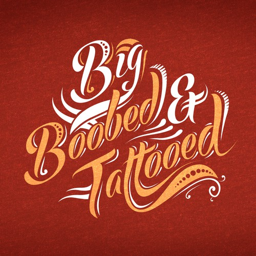Big Boobed & Tattooed T-shirt design