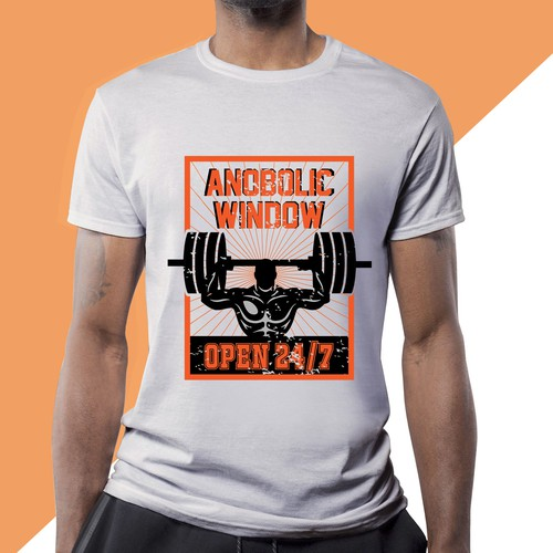 logo for a fitness themed T-shirt