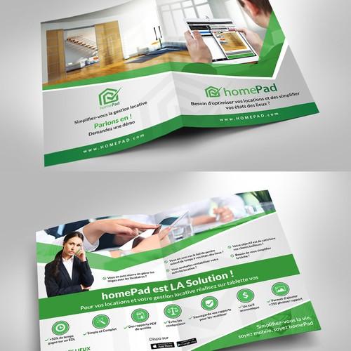 Bifolded brochure
