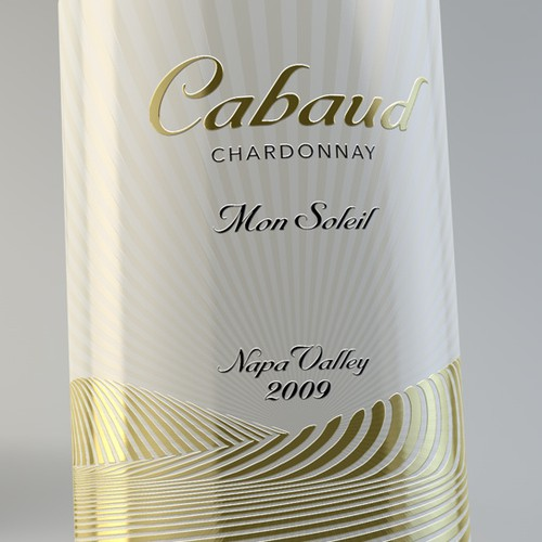 """Cabaud Wines"" wine label #2"