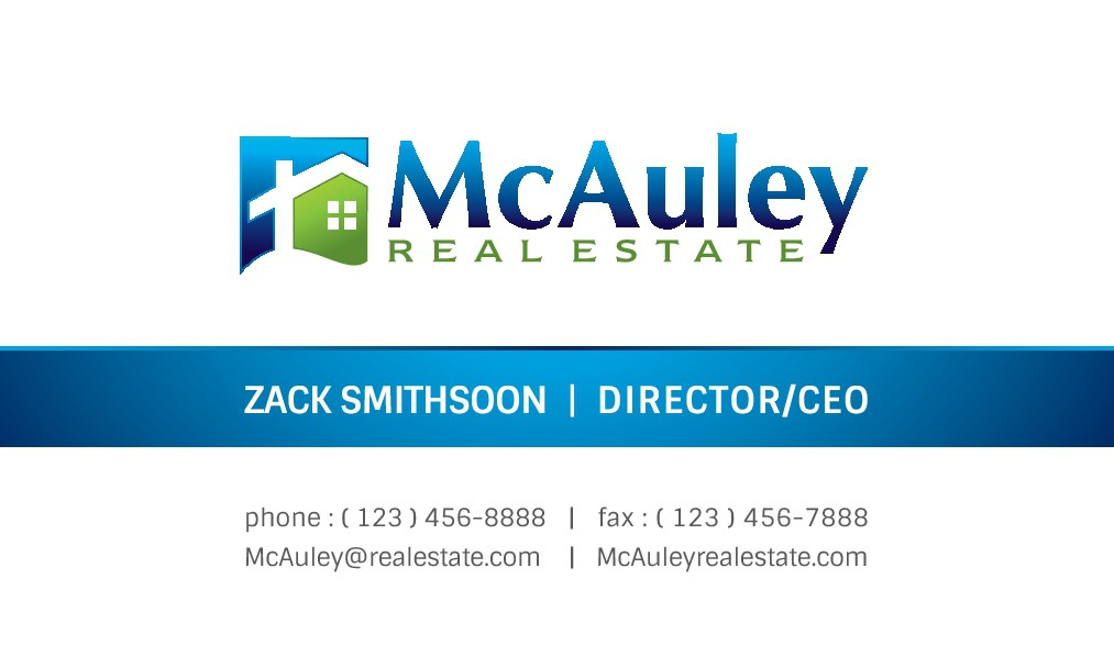 Business Card Design for Modern Residential Real Estate Brokerage