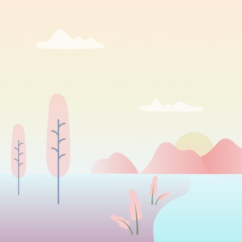 Landing page pastel background illustration