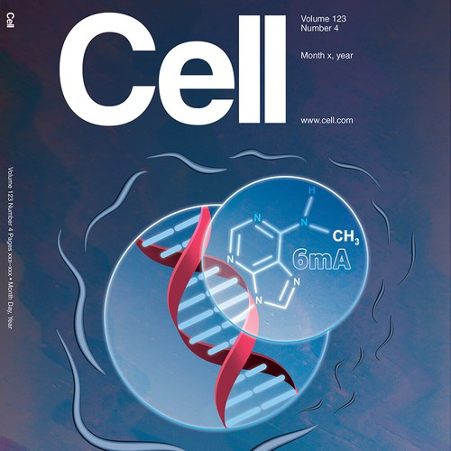 Cover design for the scientific journal Cell