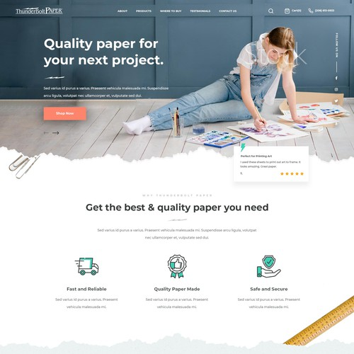 Ecommerce Design for Paper Products