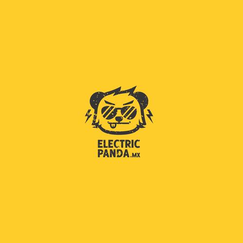 Cool Panda Logo for Online EDM clothes retailer