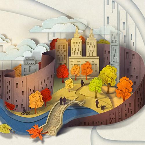 cut paper  illustration