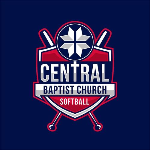 Church Team Softball T-Shirt Design Top Notch