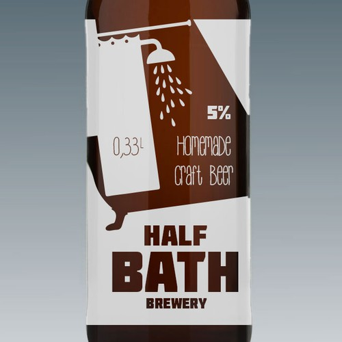 Beer bottle label for half bath brewery