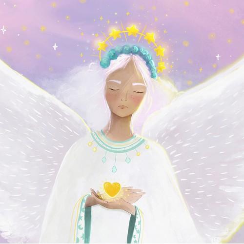 Angel drawing art print