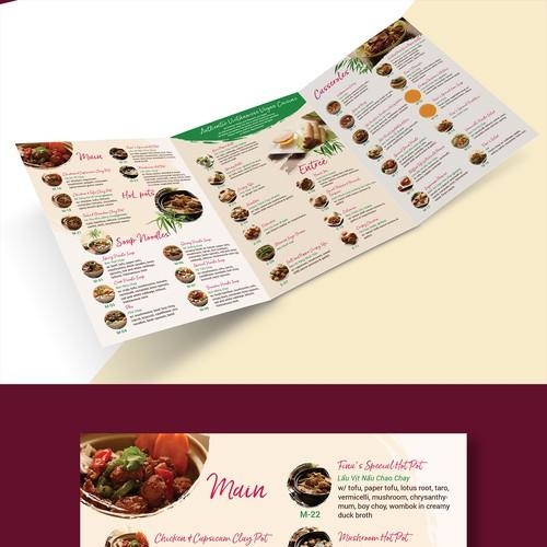 Menu Design for Asian Restaurant