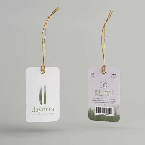 Hangtag for clothing company