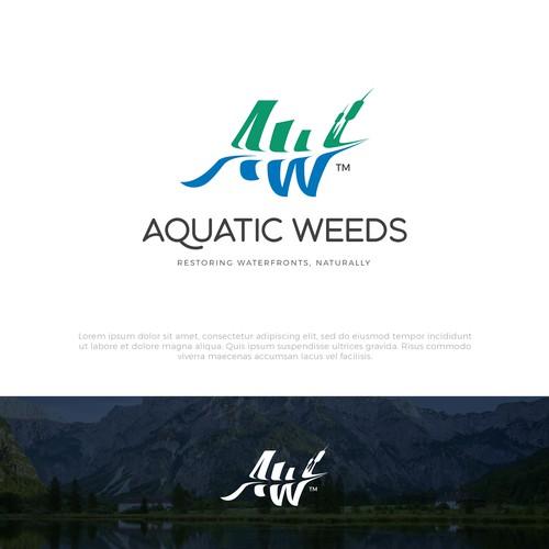 Bold logo concept for Aquatic Weeds