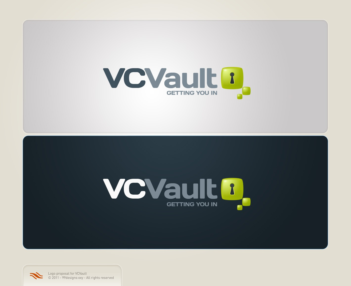 Create the next logo for VCVault
