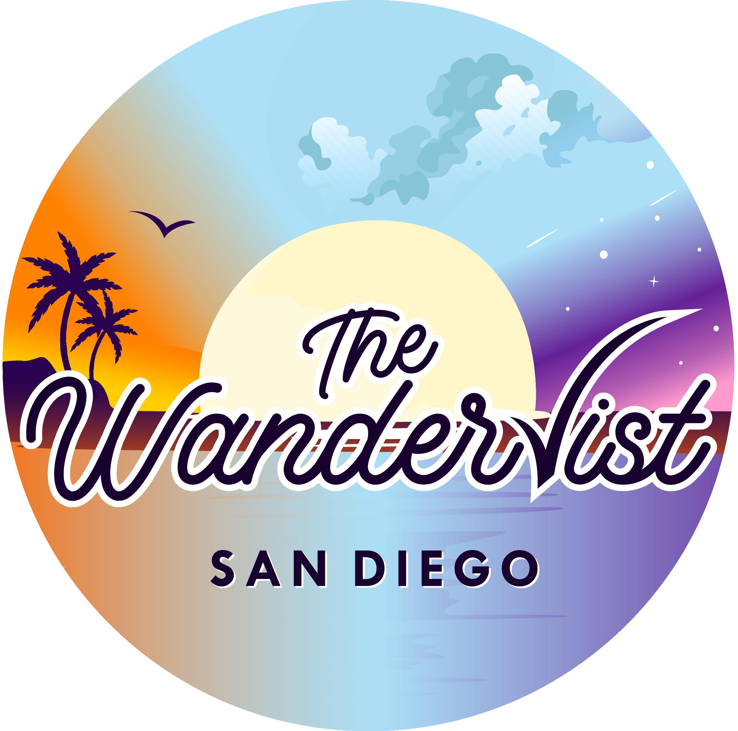 "Travel/Lifestyle tv show logo ""The Wanderlist - San Diego"""