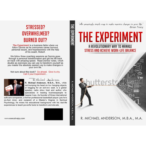 "Cover Design for a Business Fable called ""The Experiment"""