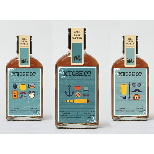 Label design for Mugshot Cold Brew Coffee