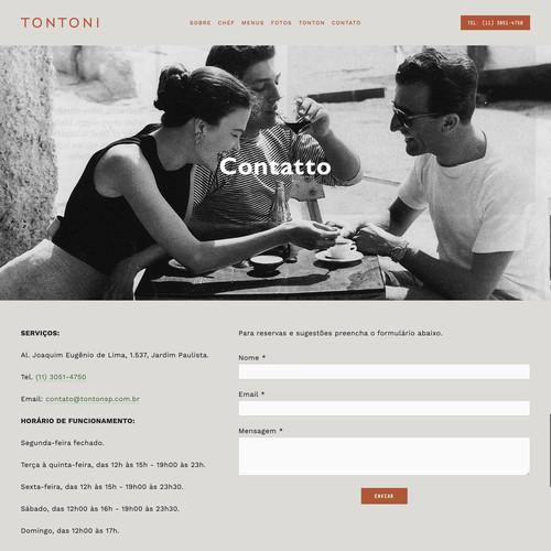 Italian Restaurant Webdesign