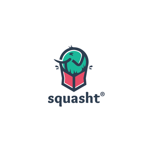 Bold and playful logo of elephant in a box