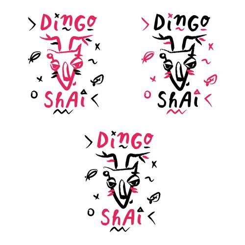 Illustrational logo design for DJ