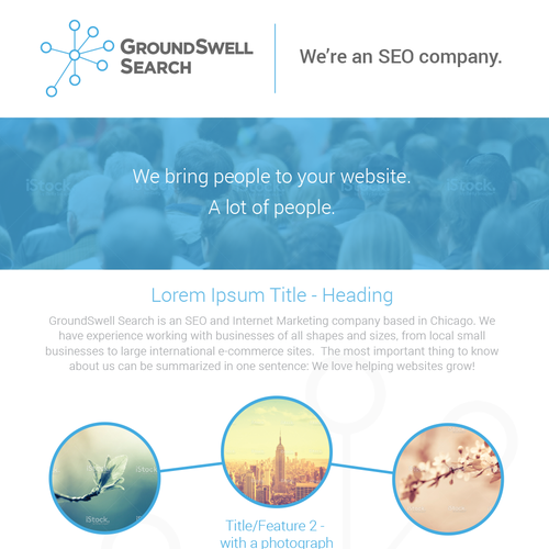 GroundSwell Search; One-page flyer