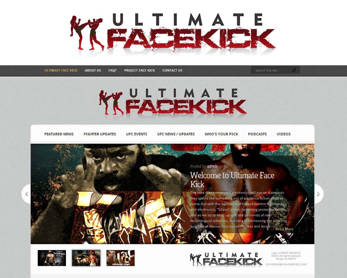 Create the next logo for Ultimate Face Kick