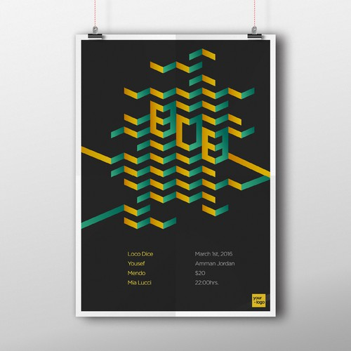 Poster for Electronic Music event